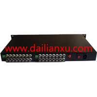 32 Chs Digital Video / Audio / Data Fiber Optic Transmitter And Receiver BNC to fiber converter