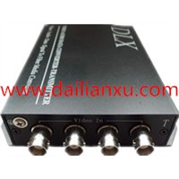 4channels BNC to fibr converter 4chs Digital Video/audi/data  Fiber Optical Transmitter And Receiver