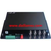 8channels 1080p 2megapixel HD-AHD Video/Audio/Data Fiber Optical Transmitter and Receiver