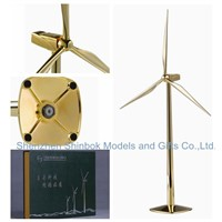 Die cast zinc alloy Metal Decorative Wind Turbine Model