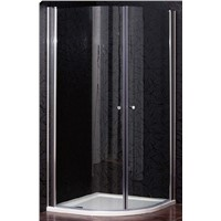High Quality  frameless Shower enclosure one fixed one sliding door clear glass