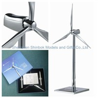 Silver Metal Windmill for Company Gifts