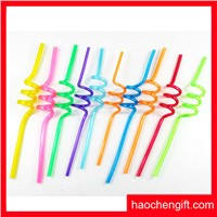 plastic drinking straw with pvc figurine