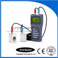 Portable ultrasonic flow transmitter with clamp on sensor