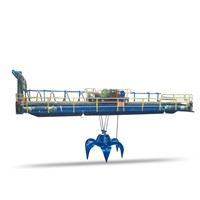 QZ Model Hydraulic Grab Bucket Overhead Crane Bridge Crane for Handling Bulk Material