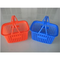 Wholesale Portable Plastic Shopping Baskets With Double Handles