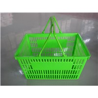 Wholesale Grocery Portable Cheap Plastic Hand-held Shopping Baskets With Double Handles