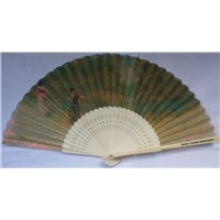 Fashion Japan decor silk fan,satin fabric gift fan