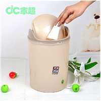 household creative plastic dustbin with swing cover 6L huangyan