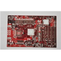 Double-sided PCB, red oil card board, immersion gold