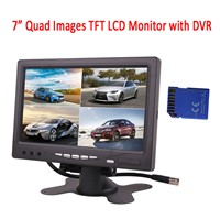7 Inch Quad Images Monitor with DVR