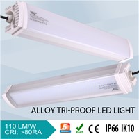 high lumens IP66 led tri-proof linear light 80w, 5 years warranty