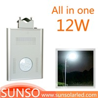 12W Integrated solar powered LED Wall mounted, Park, Villa, Village light with motion sensor