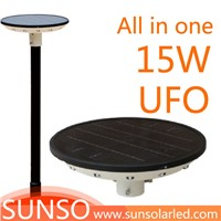 15W Integrated solar powered LED yard, security, security, Prairie light with motion sensor function
