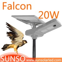 20W All in one solar powered LED Wall mounted, Park, Villa, Village light with motion sensor