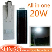 20W All in one solar powered LED yard, security, residential, Prairie light with motion sensor