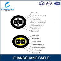 Bow-type drop cable for duct GJXFHA fiber optic cable from China factory Changguang Communication