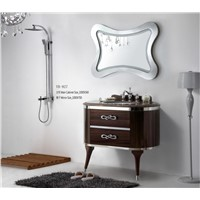 Modern Hanging Natural Marble Countertop Bathroom Cabinet