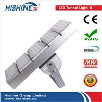 High Lumen Led Tunnel Light 240W IP65 Meanwell Driver AC90-295V LED Parking Lot Lighting