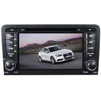 "7"" LCD-TFT touch screen two din special car DVD player with GPS and Bluetooth for AUDI A3"
