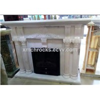 White Onyx Fireplace