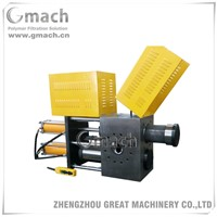 Double piston large capacity type screen changer for plastic extruder
