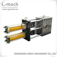 Double plate type double working station screen changer for plastic recycling extruder