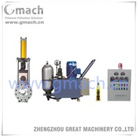 Single slide plate type double working station screen changer for plastic recycling extruder