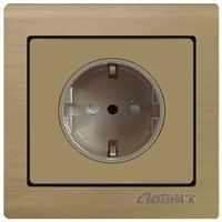 aluminium panel 16A European Germany Schuko socket