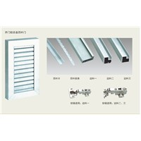 new design Aluminium frame louvres door (SN644)