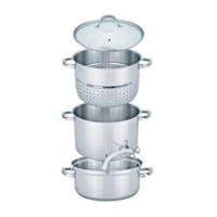 4pcs stainless steel steamer set