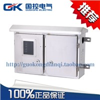 Rain stainless steel distribution box with three phase meter box double door 550 * 400 * 180 mm
