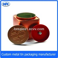 Rectangle packaging box copper tea tin with inner lid
