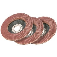 Abrasive Aluminium oxide flap disc with fiberglass backing plate