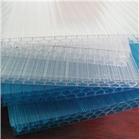 light weight polycarbonate honeycomb panels used for greenhouse/awning/ skylight covers