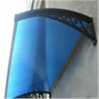 XINHAI Polycarbonate rain canopy awning for window awning shelter or door canopy