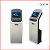 Slim Standing Touch Screen Information Kiosk With Fingerprint Scanner