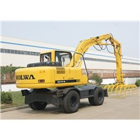 11 ton wheel excavator with grapple DLS118-9A