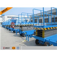 18m potable electric mobile scissor lift