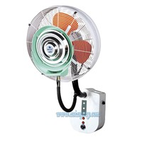 Deeri Wall mounted misting fan with rain protection and remote control