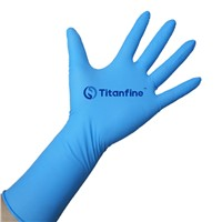 Titanfine 9'' 4.0g Black Disposable Nitrile  EXAM Gloves Tattoo Beauty special gloves
