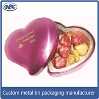 New design heart shape tin chocolate box