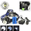 High quality 3 mode xml-t6 waterproof 2000 lumen led rechargeable headlamp headlight (568D)