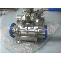 3-piece stainless steel 2 inch ball valve