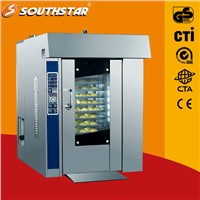 12 trays capacity gas rotary oven for bread baking