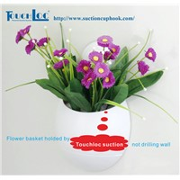 Suction Hanging Plastic flower pot for home decoration on sale