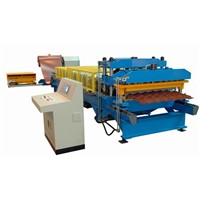 metal steel tile cold roll forming machine