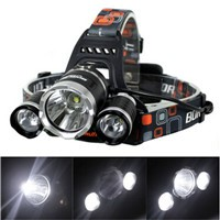 High Power 5000 Lumen Rechargeable 3*XML T6 4 Mode Waterproof 18650 Camping Headlamp (2303)