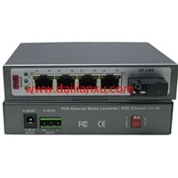 SM 20KM single-fiber SC 4channels 10/100M POE Ethernet Fiber Optical Switch Fiber POE Switch