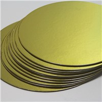 Gold cake base cake drum cake board